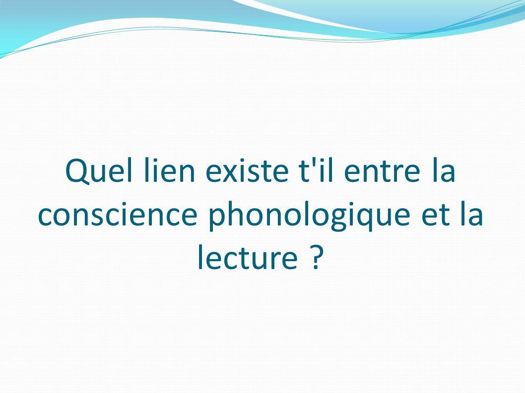 Quel lien existe t il entre la conscience phonologique et la lecture