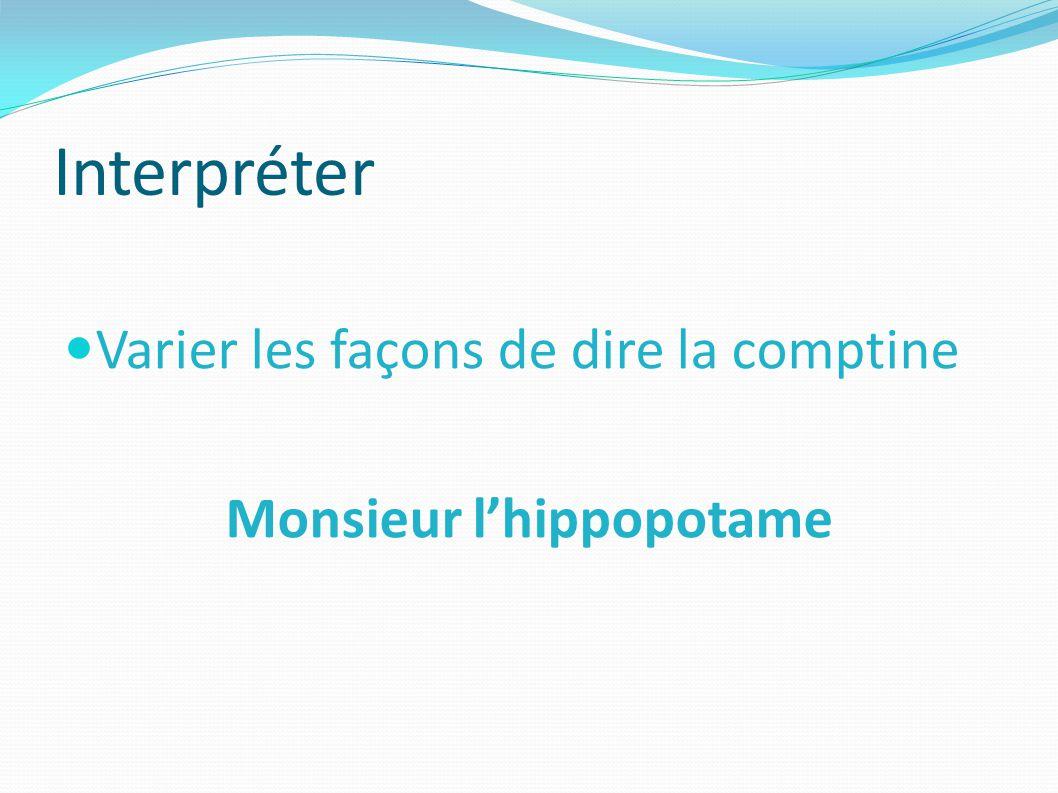 Monsieur l'hippopotame