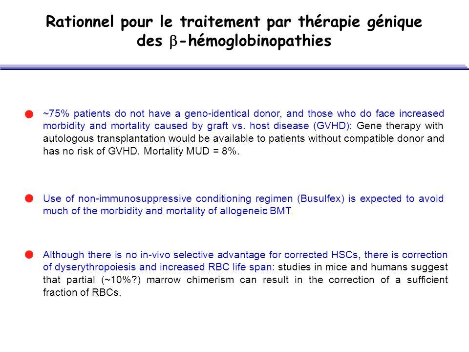 Rationnel pour le traitement par thérapie génique