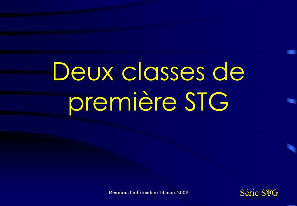 Deux classes de première STG