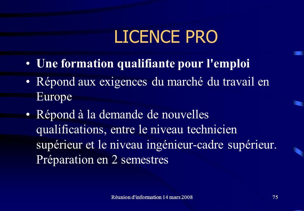 Réunion d information 14 mars 2008