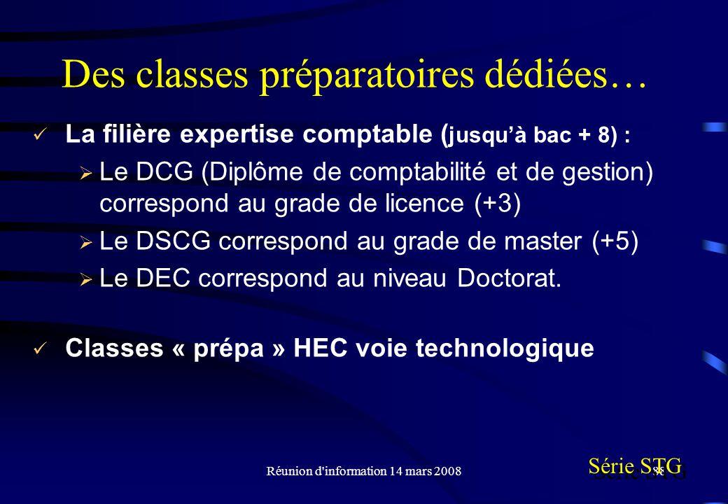 Des classes préparatoires dédiées…