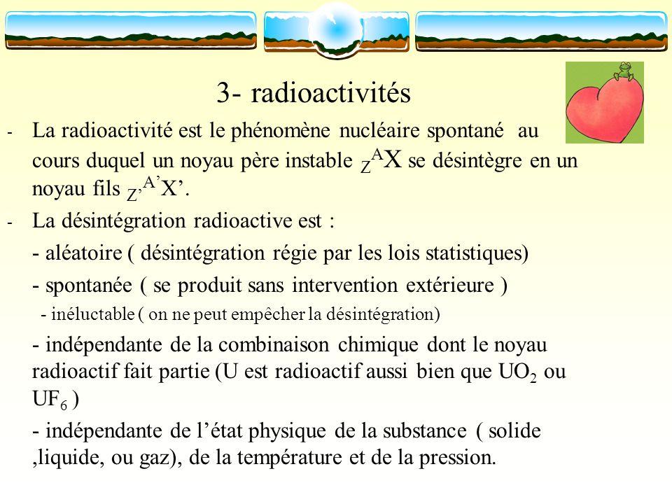 3- radioactivités