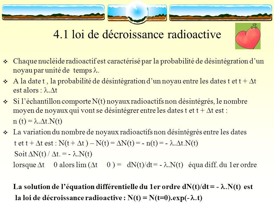 4.1 loi de décroissance radioactive