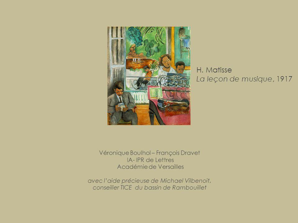 H. Matisse La leçon de musique, 1917