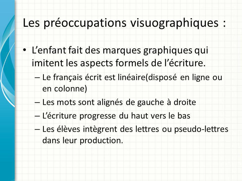 Les préoccupations visuographiques :
