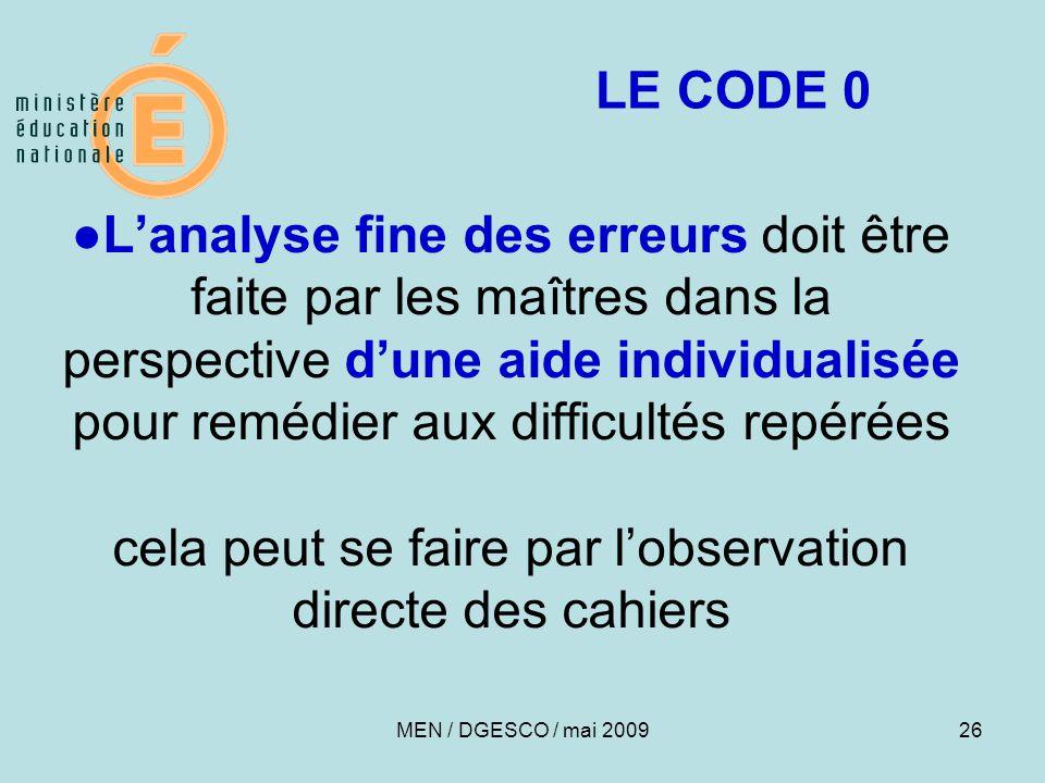 LE CODE 0