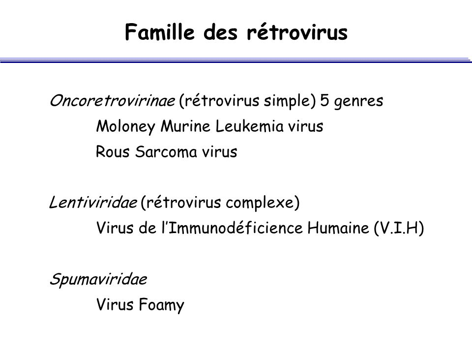 Famille des rétrovirus