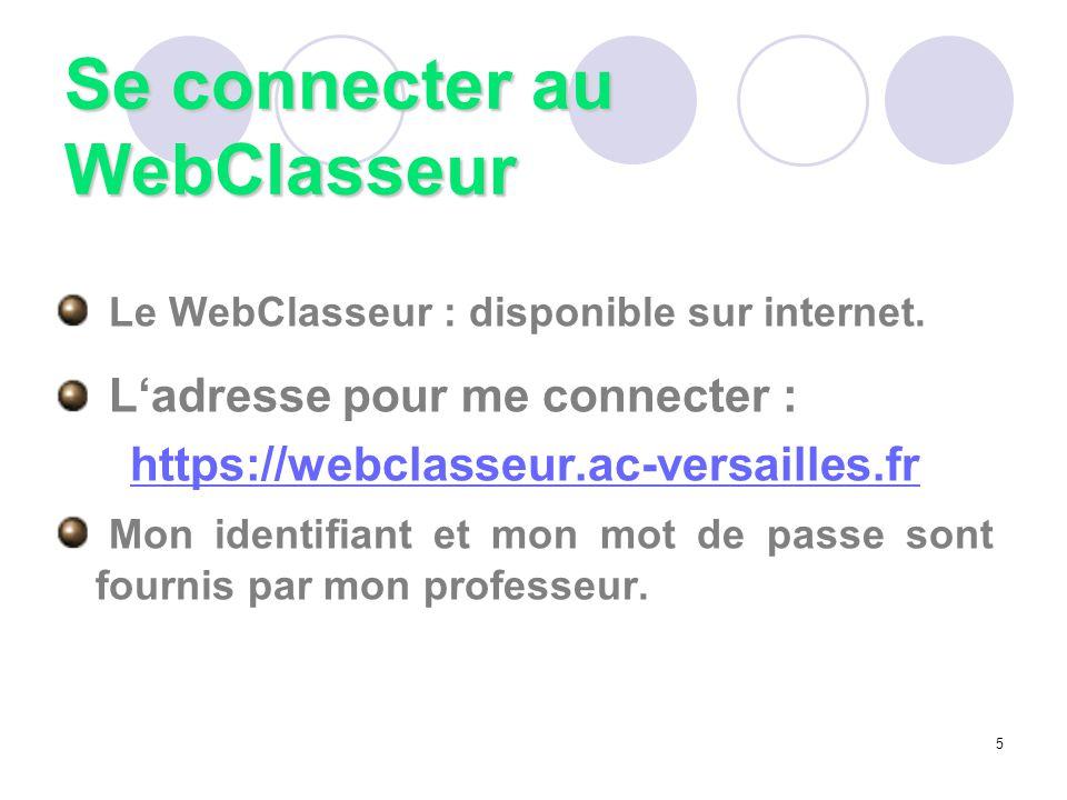 Se connecter au WebClasseur