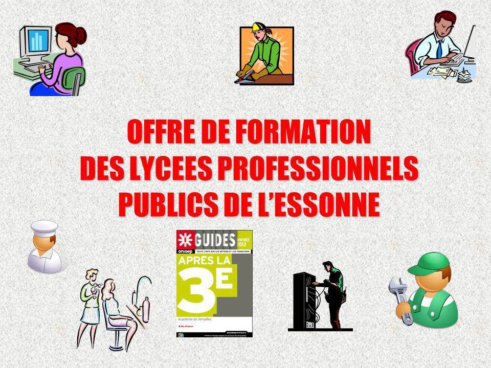 OFFRE DE FORMATION DES LYCEES PROFESSIONNELS PUBLICS DE L'ESSONNE