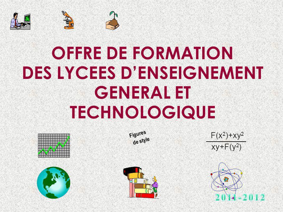 OFFRE DE FORMATION DES LYCEES D'ENSEIGNEMENT GENERAL ET TECHNOLOGIQUE