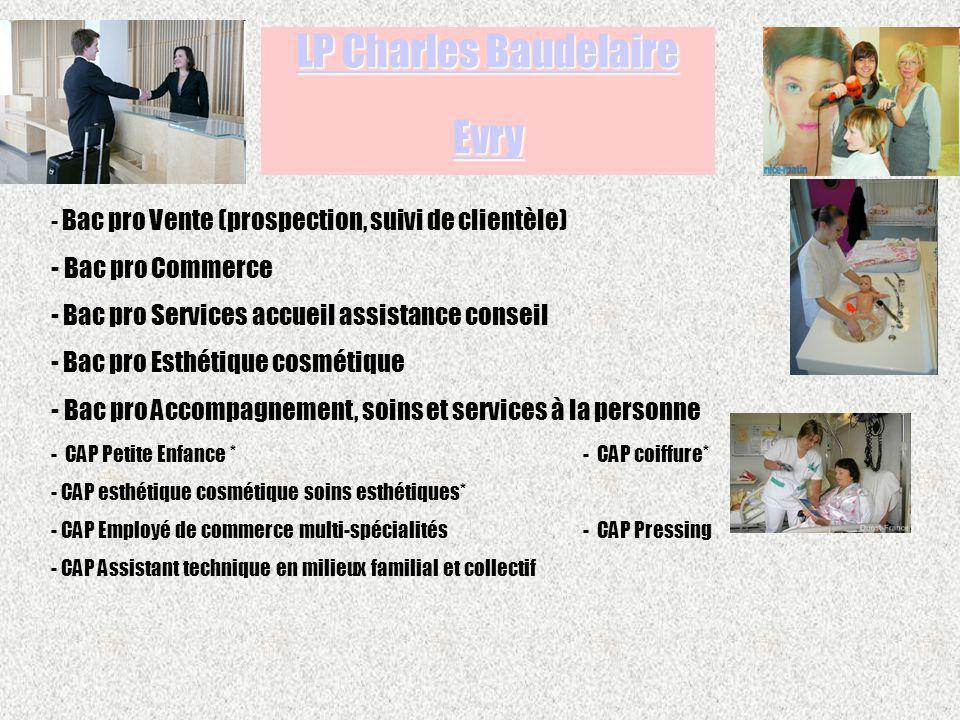 LP Charles Baudelaire Evry Bac pro Commerce