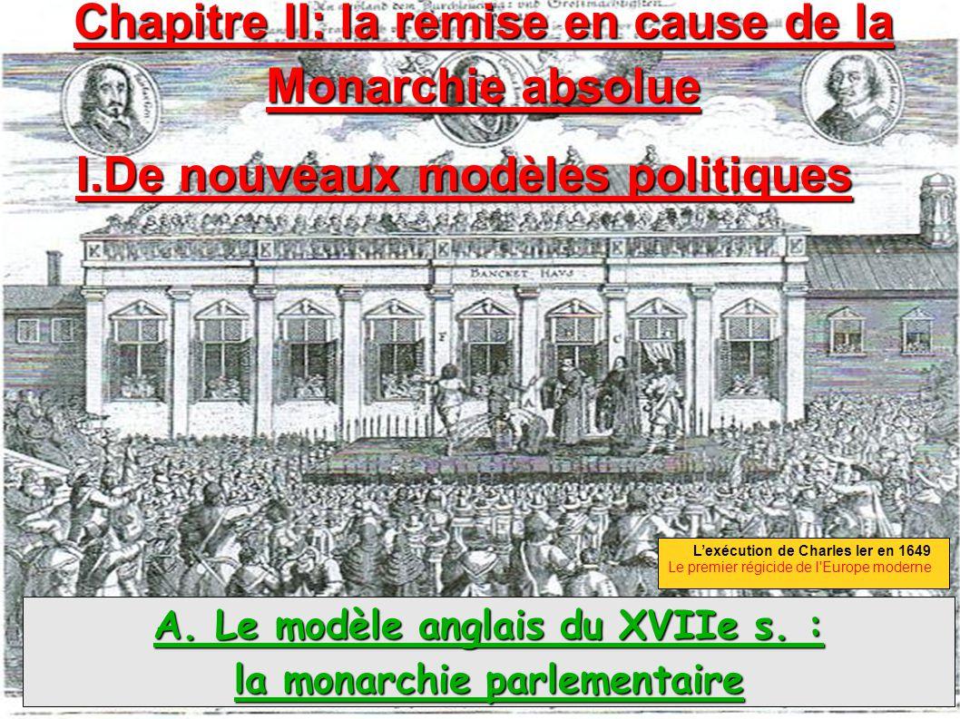 Chapitre II: la remise en cause de la Monarchie absolue