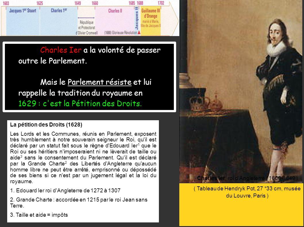 Charles Ier a la volonté de passer outre le Parlement.