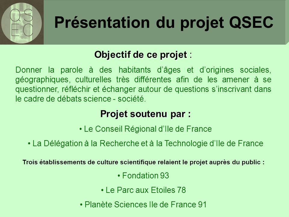 Présentation du projet QSEC