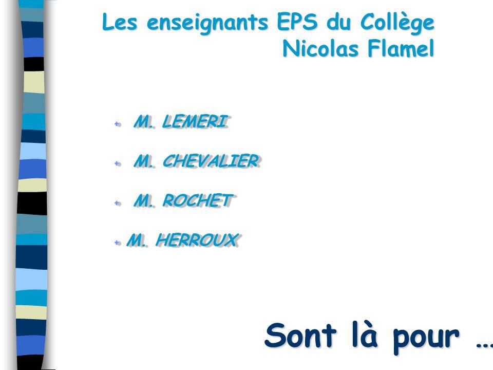 Les enseignants EPS du Collège Nicolas Flamel