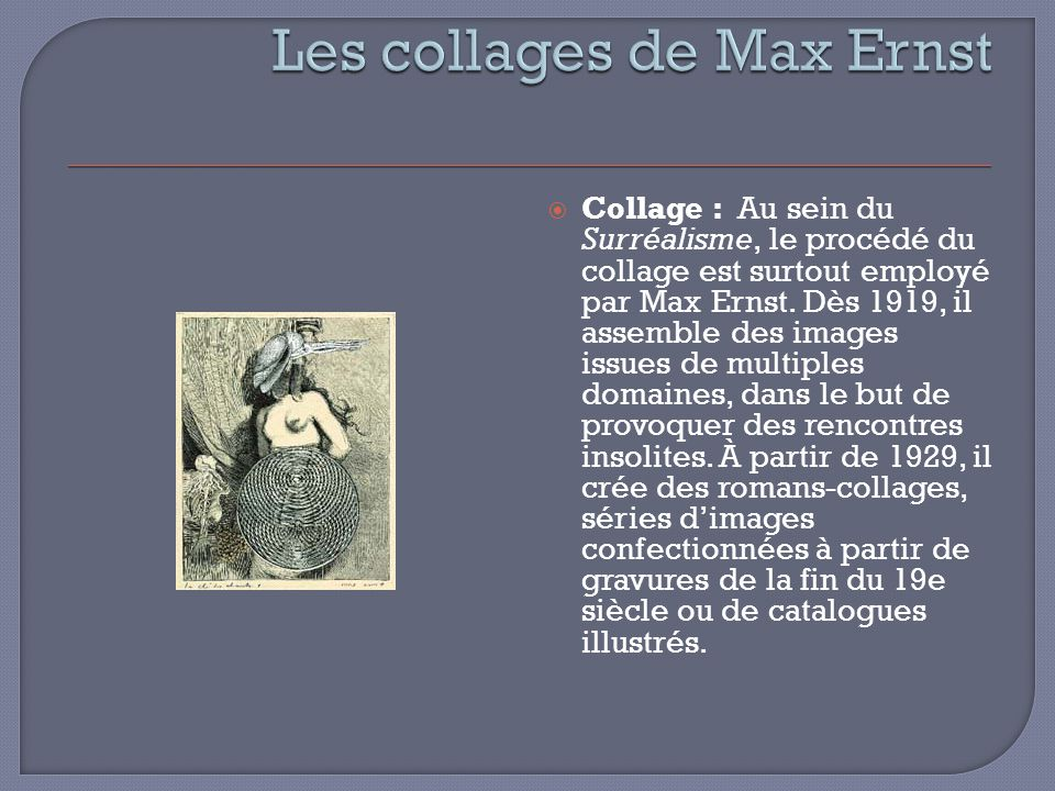 Les collages de Max Ernst