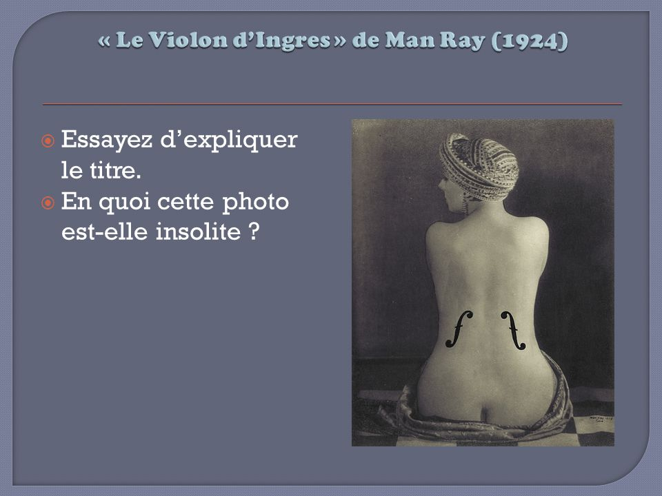« Le Violon d'Ingres » de Man Ray (1924)