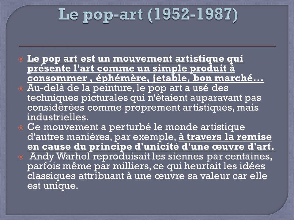 Le pop-art (1952-1987)