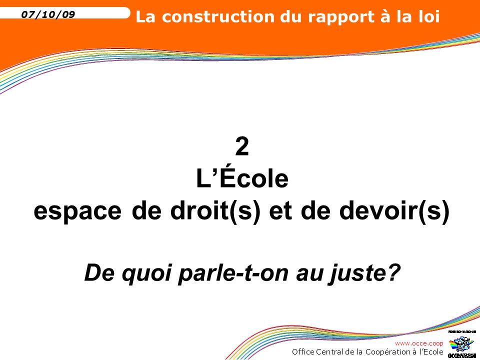 2 L'École espace de droit(s) et de devoir(s) De quoi parle-t-on au juste