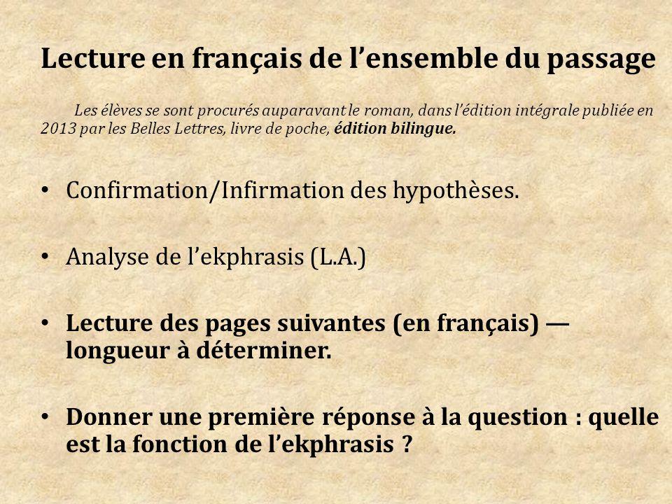 Lecture en français de l'ensemble du passage