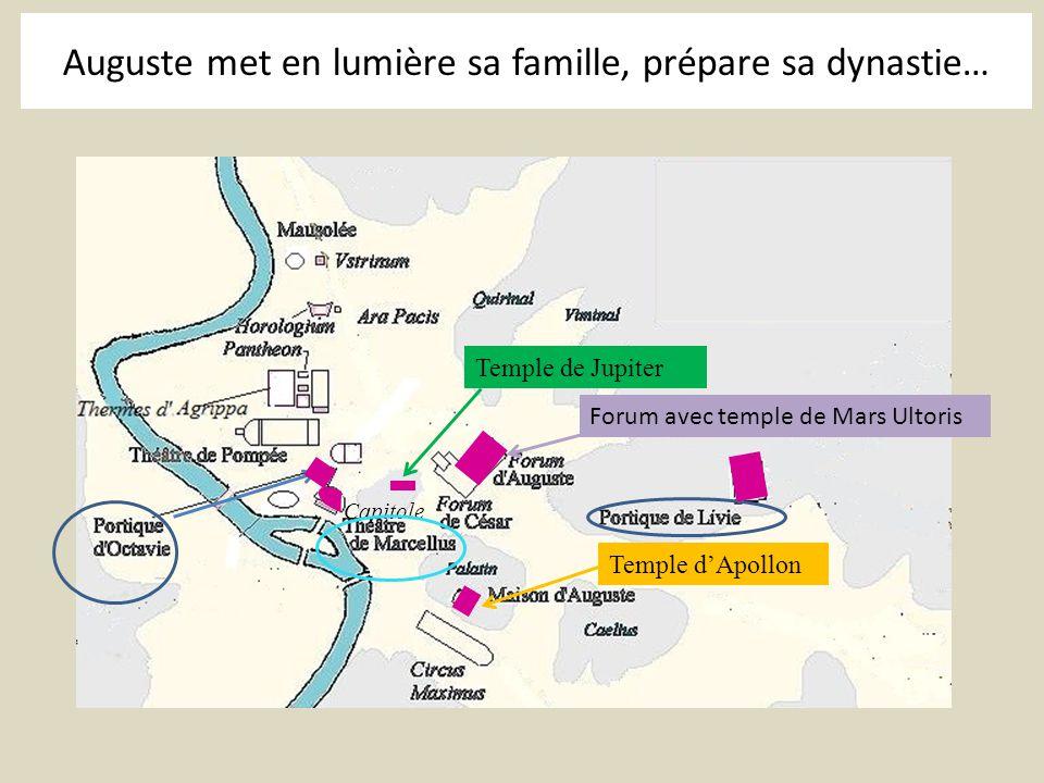 Auguste met en lumière sa famille, prépare sa dynastie…