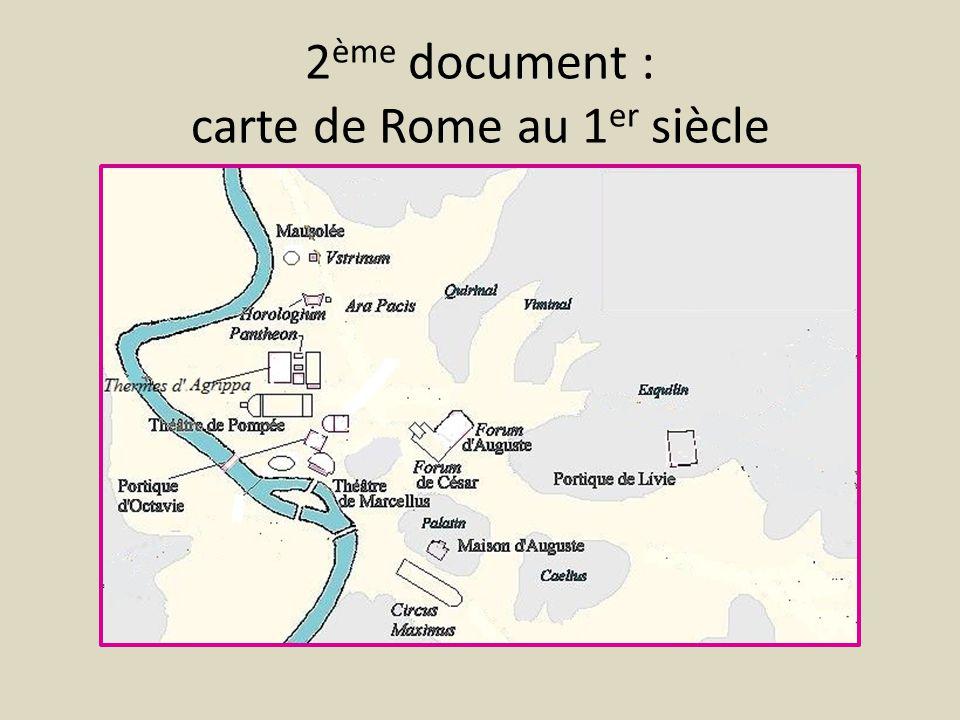2ème document : carte de Rome au 1er siècle