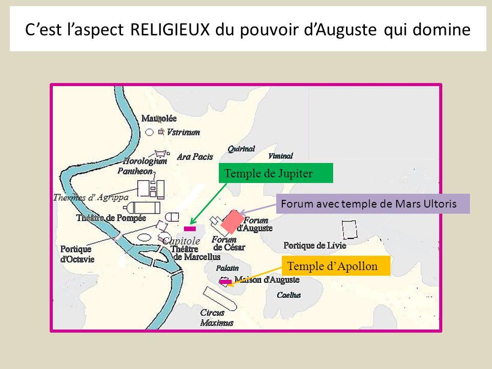 C'est l'aspect RELIGIEUX du pouvoir d'Auguste qui domine