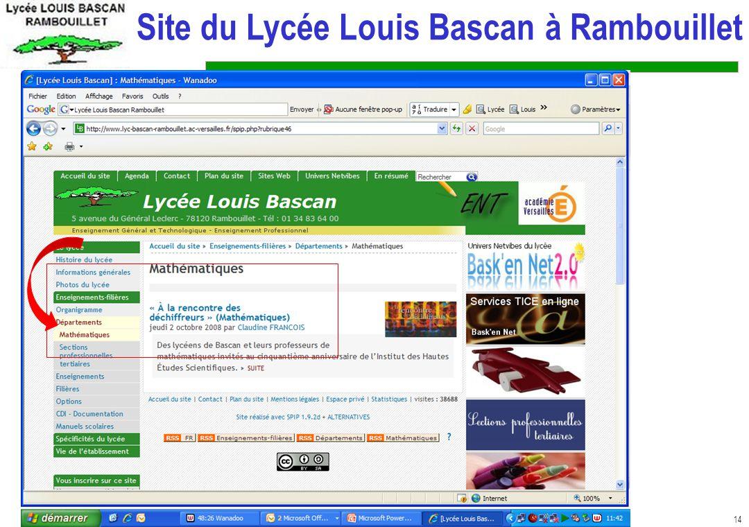 Site du Lycée Louis Bascan à Rambouillet