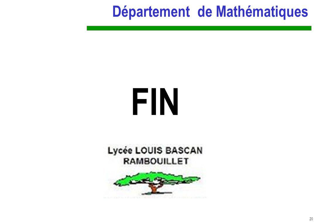 FINN Département de Mathématiques
