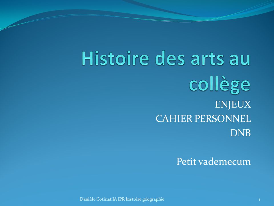 Histoire des arts au collège