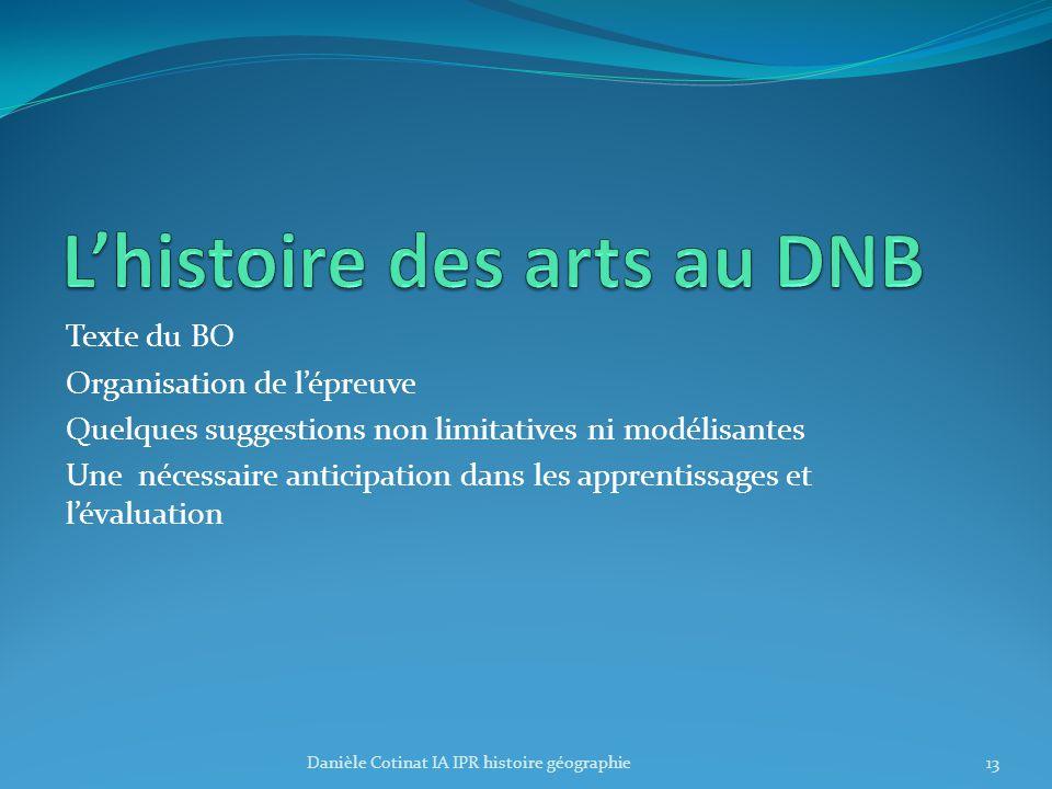 L'histoire des arts au DNB