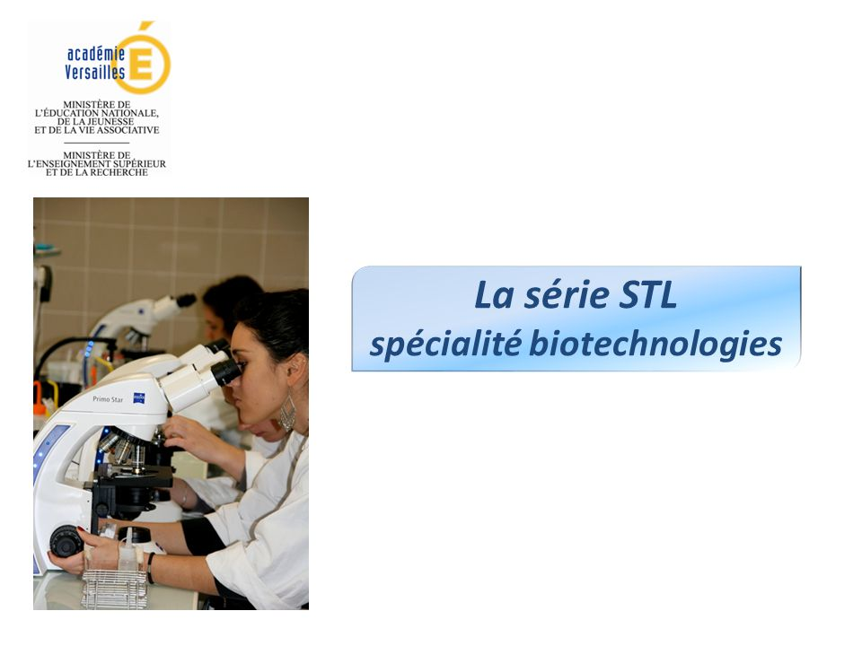 spécialité biotechnologies
