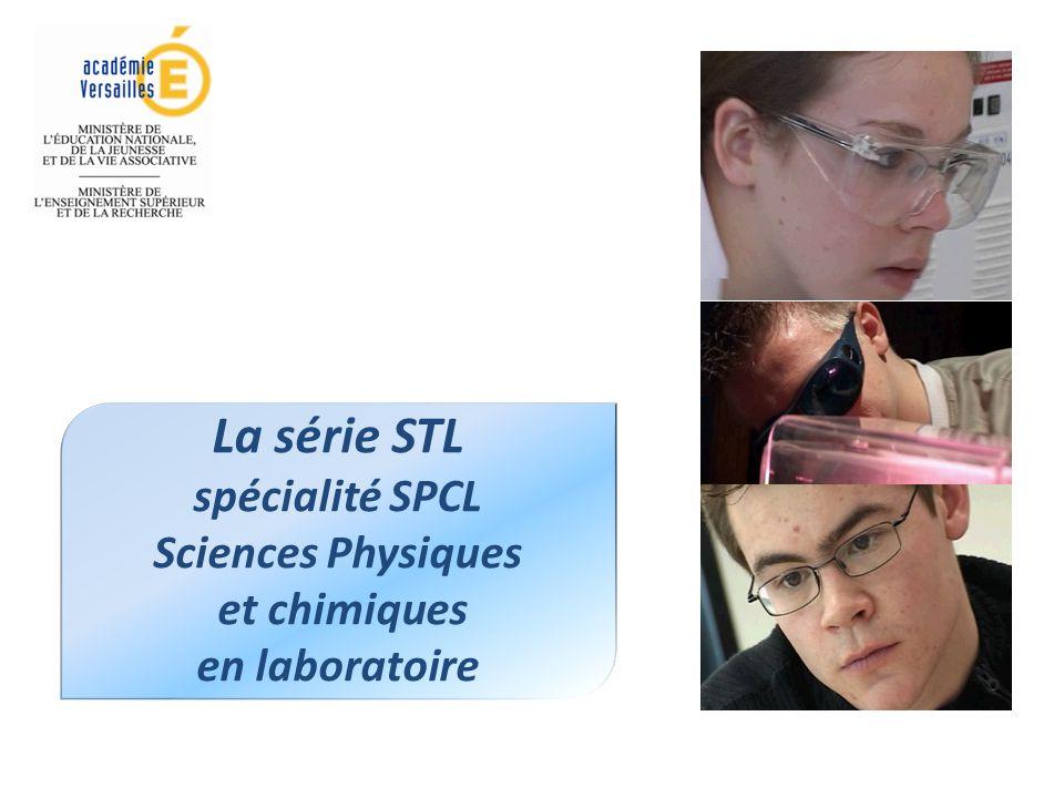 La série STL spécialité SPCL Sciences Physiques et chimiques