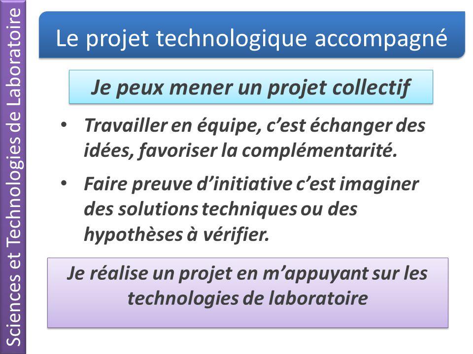 Le projet technologique accompagné