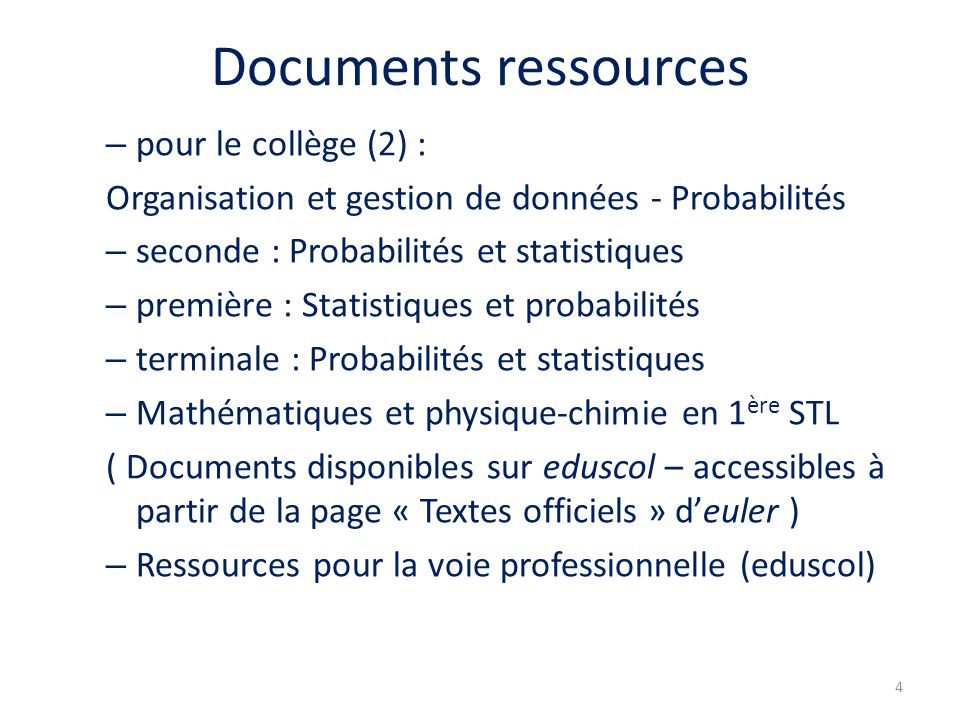 Documents ressources pour le collège (2) :