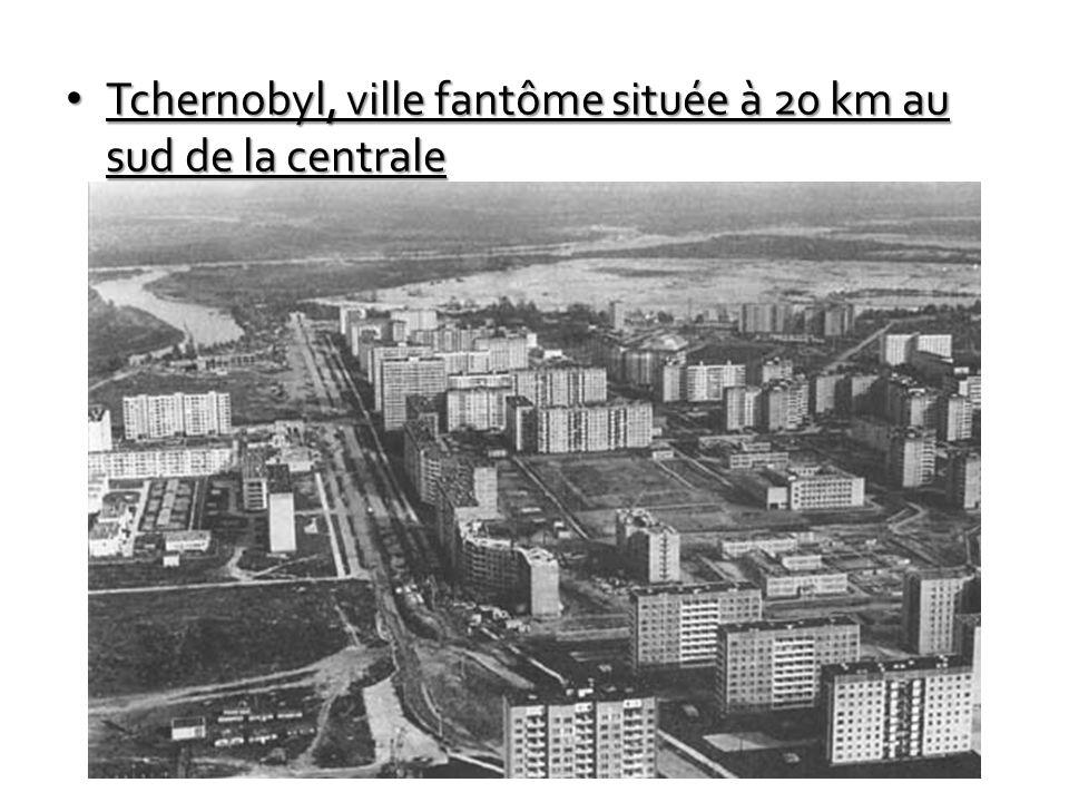 Tchernobyl, ville fantôme située à 20 km au sud de la centrale