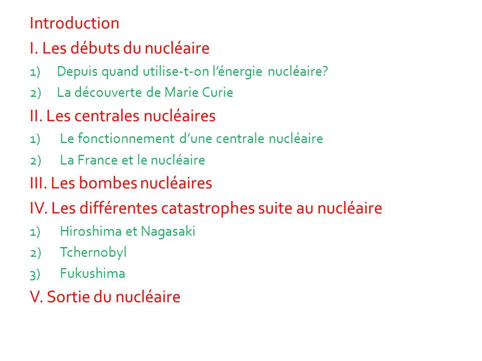 I. Les débuts du nucléaire