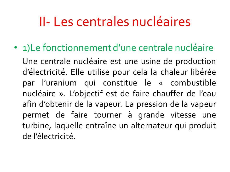 II- Les centrales nucléaires