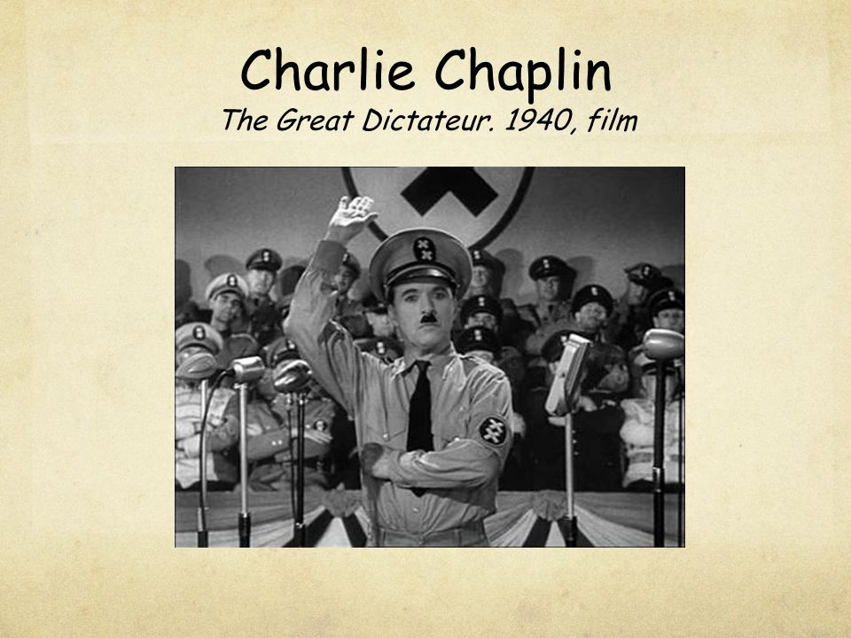 Charlie Chaplin The Great Dictateur. 1940, film
