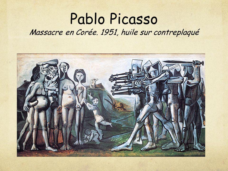 Pablo Picasso Massacre en Corée. 1951, huile sur contreplaqué
