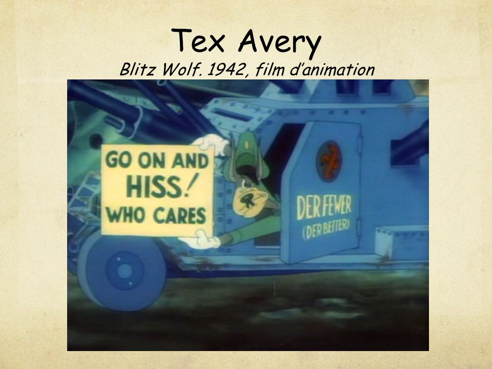 Tex Avery Blitz Wolf. 1942, film d'animation