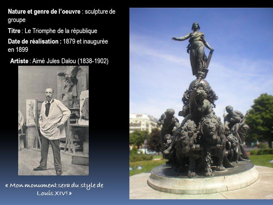 « Mon monument sera du style de Louis XIV! »