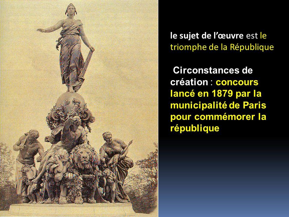 le sujet de l'œuvre est le triomphe de la République