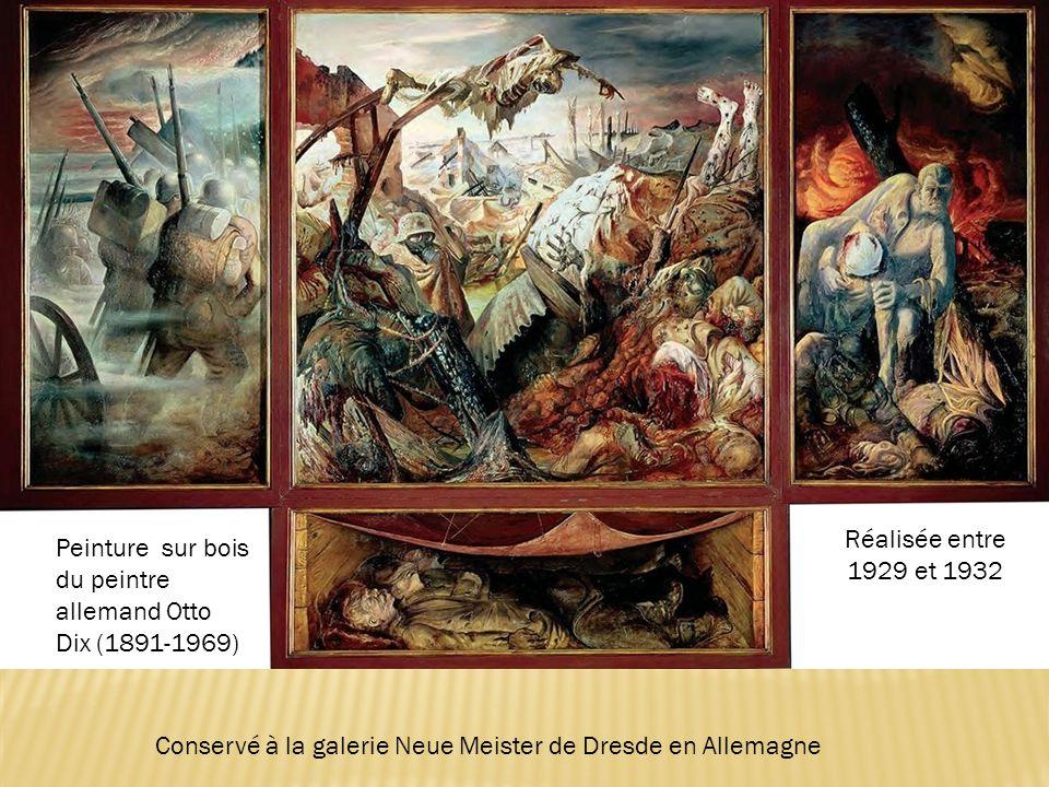 Réalisée entre 1929 et 1932 Peinture sur bois du peintre allemand Otto Dix (1891-1969) Conservé à la galerie Neue Meister de Dresde en Allemagne.
