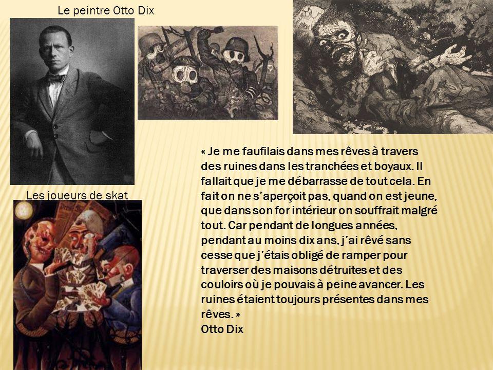 Le peintre Otto Dix