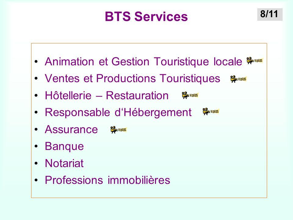 BTS Services Animation et Gestion Touristique locale