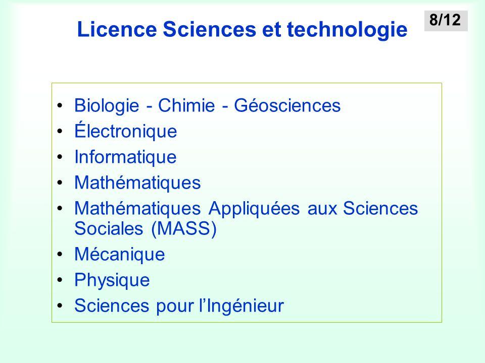 Licence Sciences et technologie