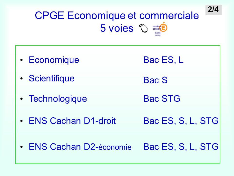 CPGE Economique et commerciale 5 voies
