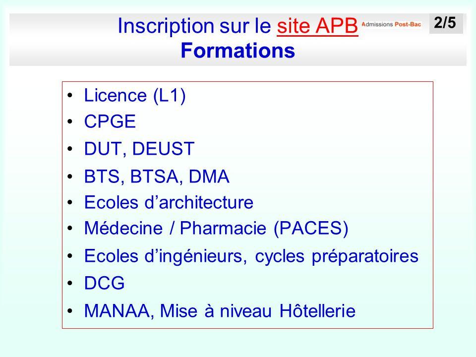 Inscription sur le site APB Formations